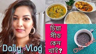 আমার সারাটি দিন ও চিয়া সীডের  উপকারিতা| Daily Vlog | Bangladeshi Canadian Vlogger