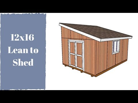 How to build a 12×16 lean to shed
