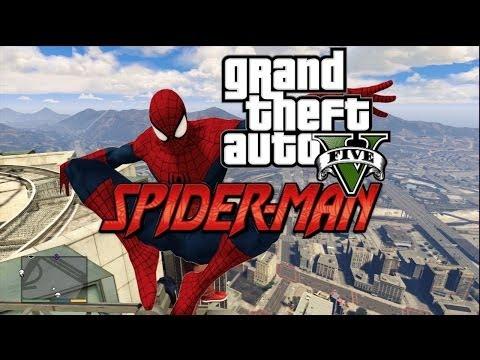 GTA 5 : Spider man in Grand Theft Auto v mods ! (parody)
