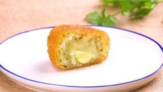 Kroketten mit Reis und Käse - Rezept für super leckeres Fingerfood