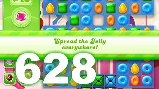 Candy Crush Jelly Saga Level 628 (3 star, No boosters)
