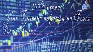 Влад Гилка: 100% схема Как Быстро вырасти на Forex