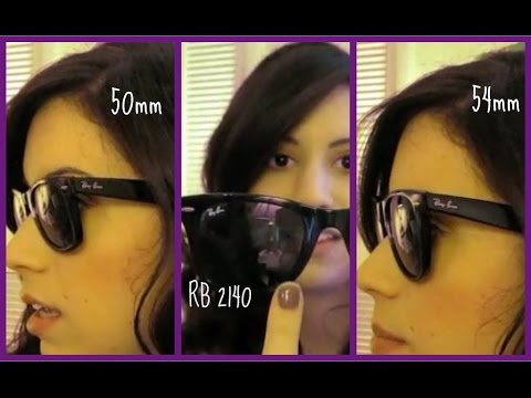 8ca75ee99b8 Ray Ban Wayfarer 2140 50mm vs. 54mm sizes - YouTube