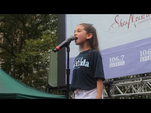 Stars From Matilda, On the Town, and Les Misérables Brave the Rain in Bryant Park