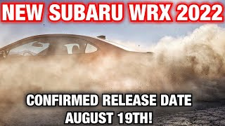 2022 Subaru WRX Release Date CONFIRMED! New York Auto Show Aug 19th