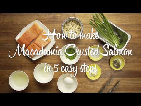 Easy As Pie - Macadamia Crusted Salmon Recipe