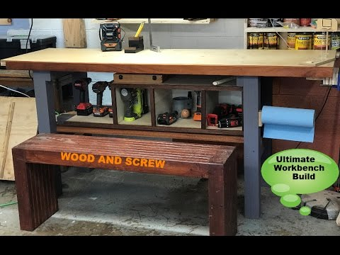 How to build a Woodworking Workbench Diy With Vice