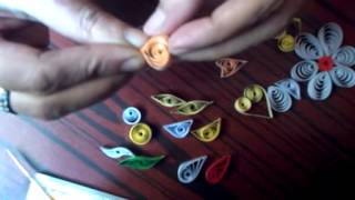 paper quilling Basic Shapes