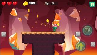 Jungle Adventures: Super World - Lava Plains Level 10... Gameplay (Free Game On Android)