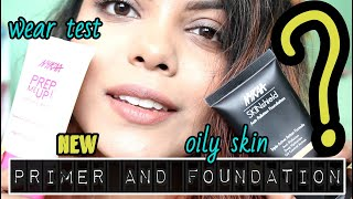 *NEW NYKAA PREP ME UP FACE PRIMER AND SKINSHIELD FOUNDATION REVIEW AND WEAR TEST   KOLKATA INDIA
