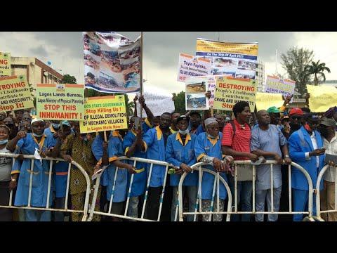 Nigerian Automobile Technician Association Protest Against Demolition of Mechanic Village