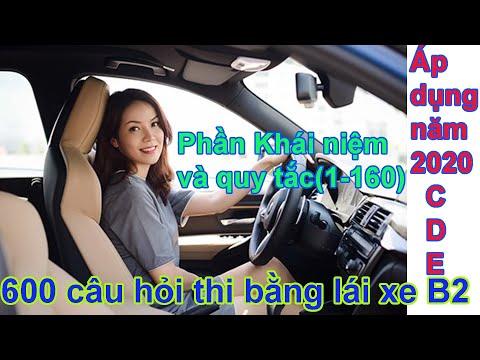 600 câu hỏi thi bằng lái xe B2 mới nhất 2020 Phần Khái niệm và quy tắc GTĐB