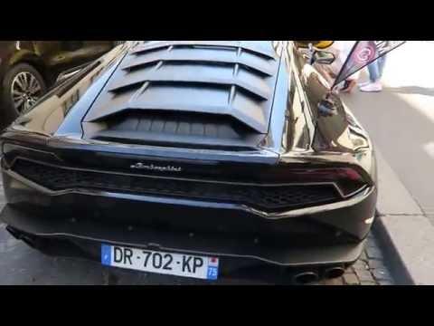 Champs-Élysées Supercars in Paris: Ferrari, Lamborghini, Mercedes