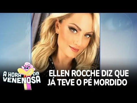 Ellen Rocche tem o pé mordido e caso para na polícia