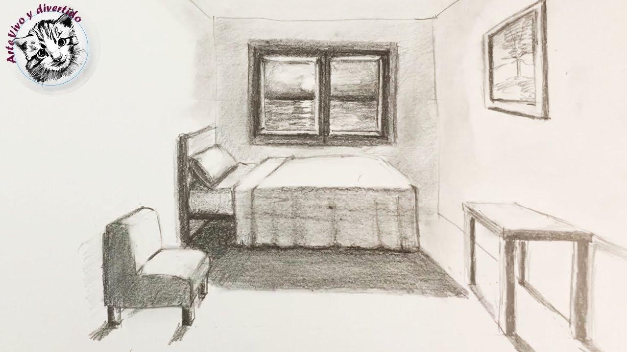 Como Dibujar Una Habitacion En Perspectiva De Un Punto Muy