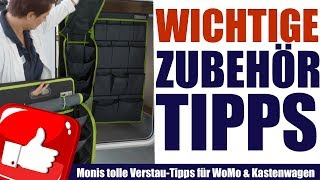 Perfekt verstauen im Wohnmobil. Praktische Tipps & Tricks.