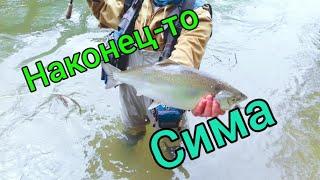 НАКОНЕЦ ТО ПОШЛА СИМА РЫБАЛКА В ДИКИХ УСЛОВИЯХ Сахалинская рыбалка Sakhalin fishing