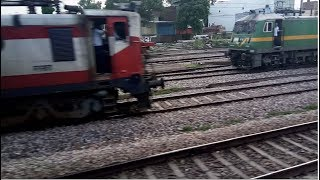 NEW DELHI-KANPUR CENTRAL FULL JOURNEY COMPILATION : OVERTAKES | PARALLEL ACTION & RAJDHANI GANG.