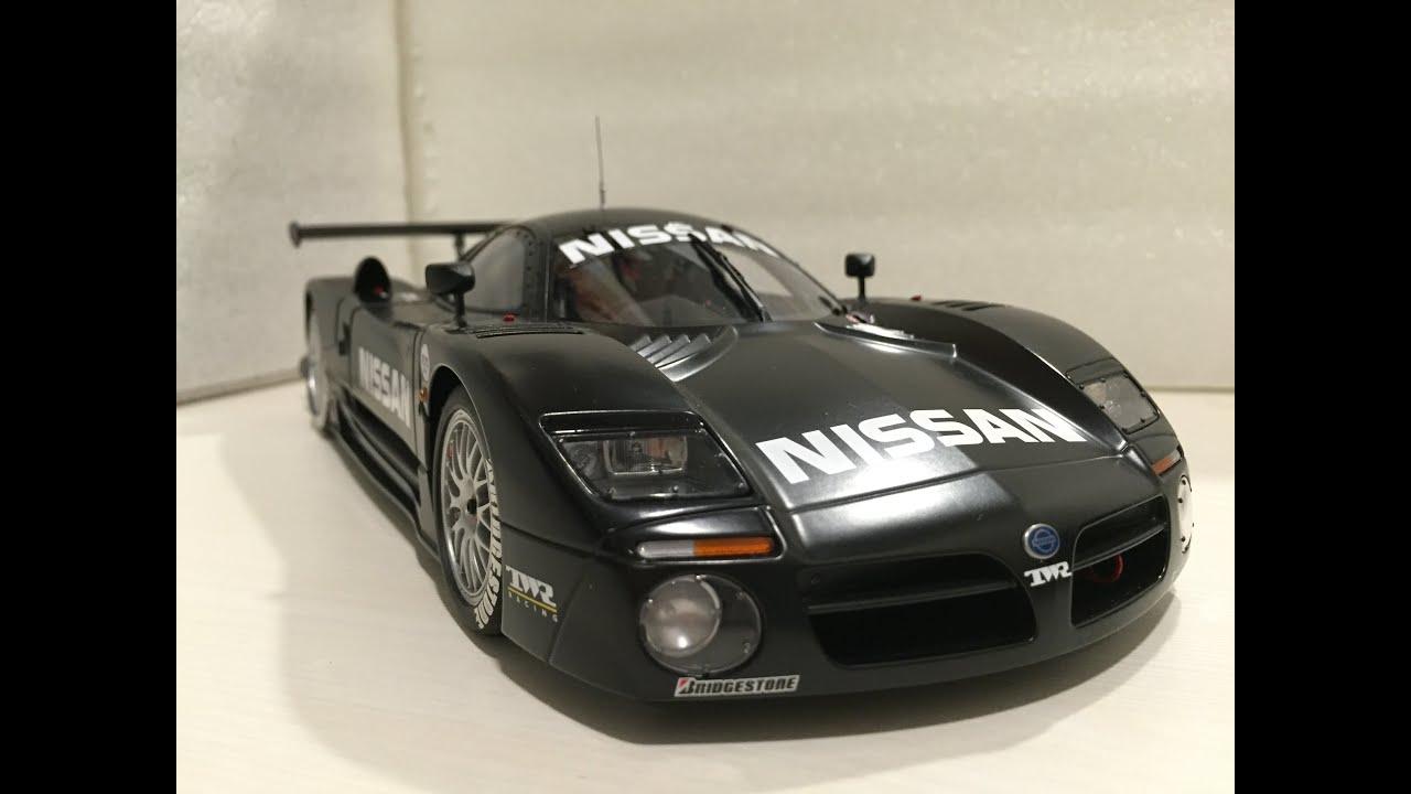 1 18 Autoart Nissan R390 Gt1 Test Car Lemans 1997 Youtube