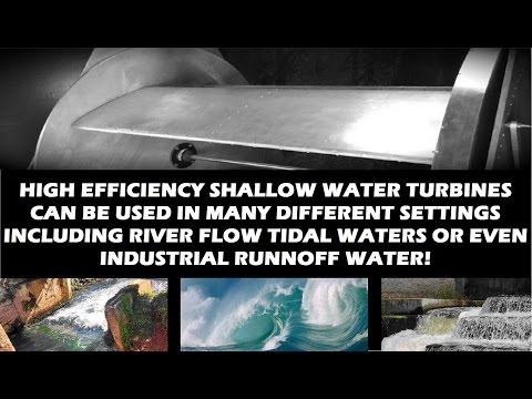 Hydro Power Turbines Micro Hydroelectric Energy from Shallow Water