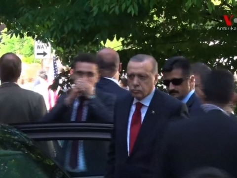 Raw: Video Shows Erdogan Observing Clashes in DC