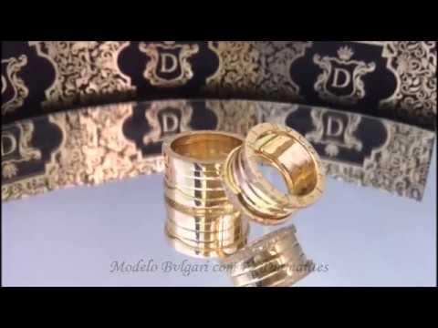 4cb290c32b9 Don Joalheria - Par de Alianças Bvlgari 72 Diamantes 30 gramas - YouTube