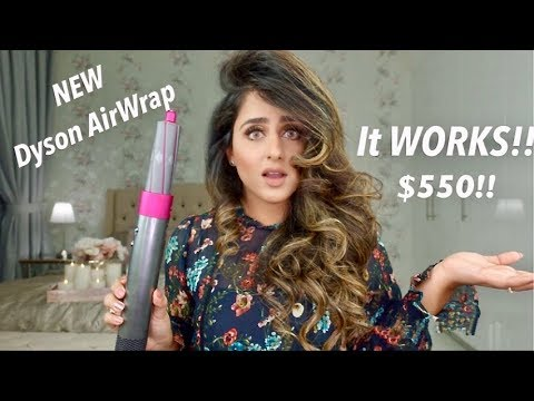 THE RIGHT WAY TO USE THE NEW DYSON AIRWRAP?!   REVIEW   HADIA