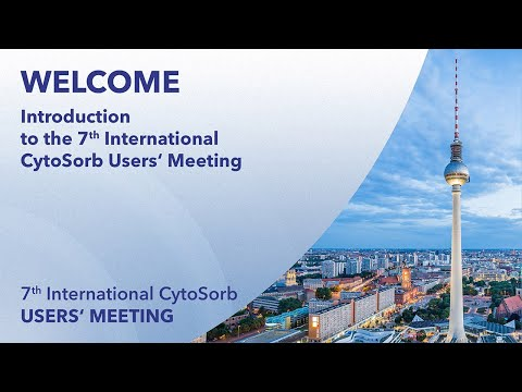 Welcome | Stefan Baudis & Christian Steiner | 7th International CytoSorb Users` Meeting | 2020