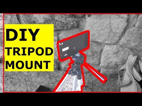 DIY Tripod mount for smartphones