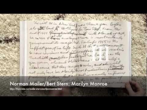 Norman Mailer,Bert Stern - Marilyn Monroe