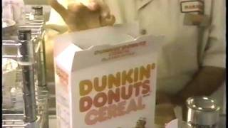 dunkin donuts cereal commercial