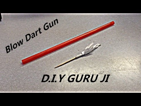 How To Make Blow Gun With Straw - DIY GURU JI