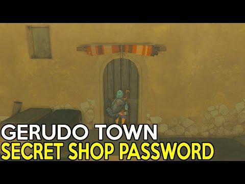 How To Get Gerudo's Town Secret Shop Password - Legend Of Zelda Breath Of The Wild