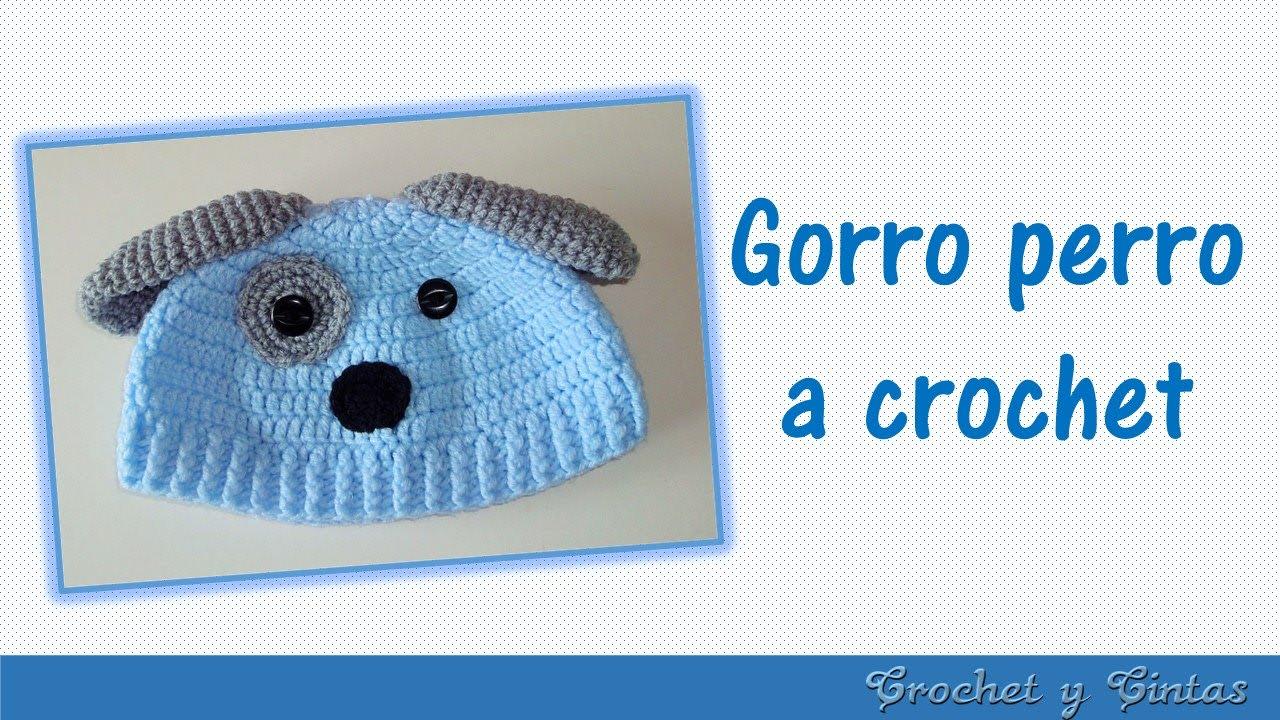 Gorro perrito tejido a crochet para niños - YouTube