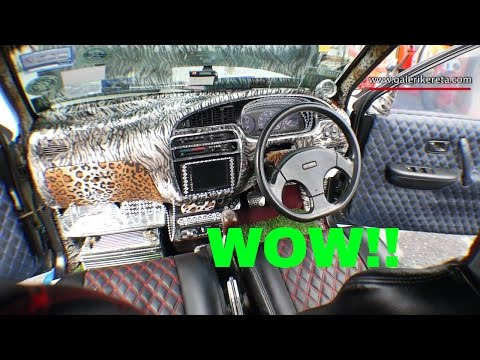 Extreme Modified Kancil Mira Moderno Turbo | Mega Gathering 2K16 | Closeup Video