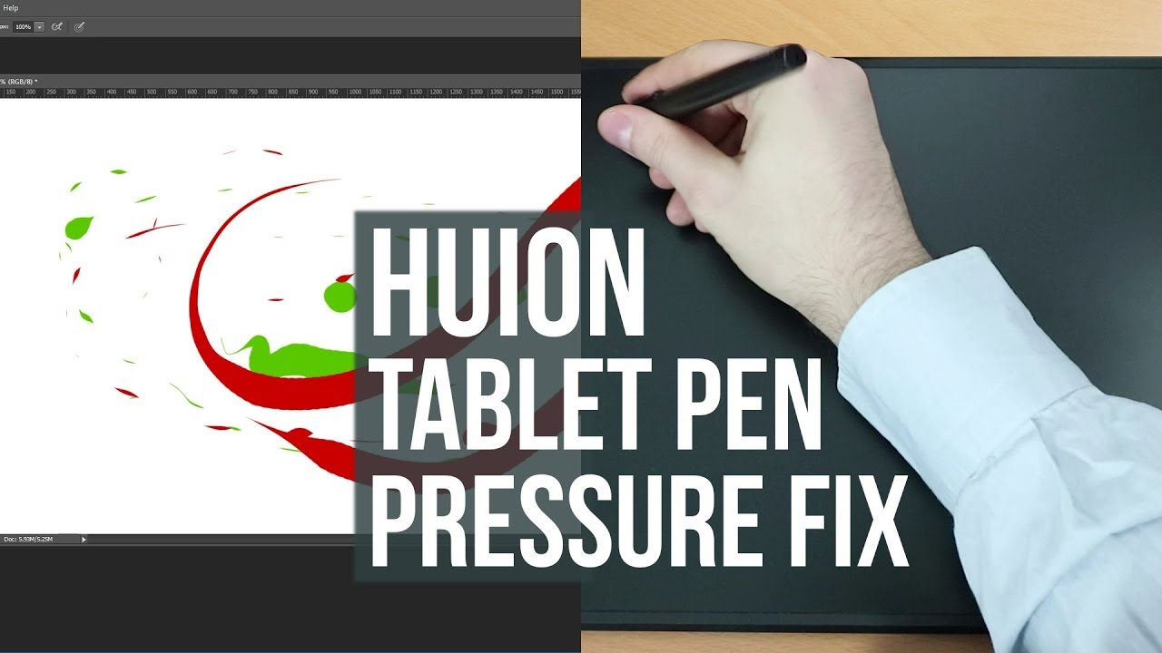 HUION Tablet Pen Pressure Doesn't Work (Driver Solution)