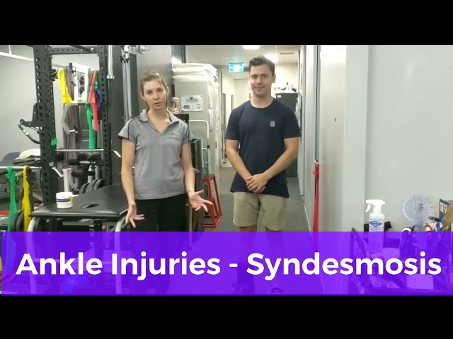 Management of High Ankle Syndesmosis Sprains: Using a CAM Boot