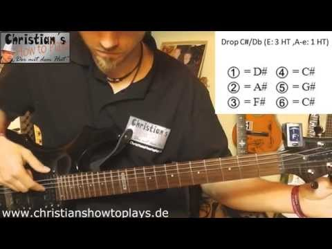 "Gitarre runter stimmen auf ""Drop C#(Db)""  