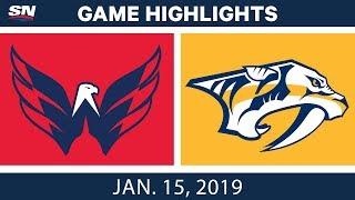 NHL Highlights | Capitals vs. Predators - Jan. 15, 2019