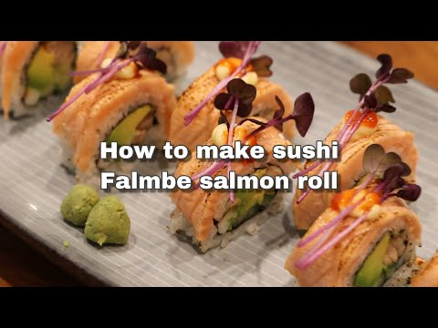 How To Make Sushi, Flambe Salmon Roll, Flambierte Lachsrolle, Sushi Selber Machen. Step By Step