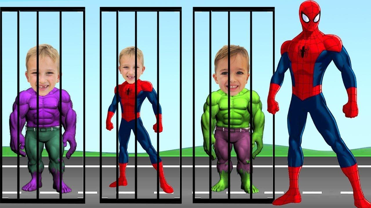 Download Vlad and Niki Wrong Heads Top Superheroesㅣ슈퍼히어로 그림자 맞추기 춤 댄스ㅣWrong Superheroes Puzzle