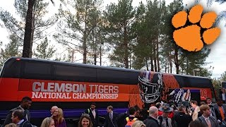 Clemson Football Arrives In Arizona For CFP National Championship Game