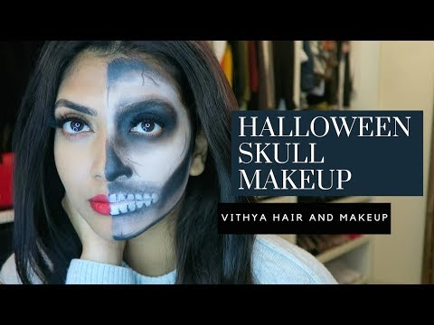 Halloween Skull Makeup | Vithya Hair and Makeup Artist