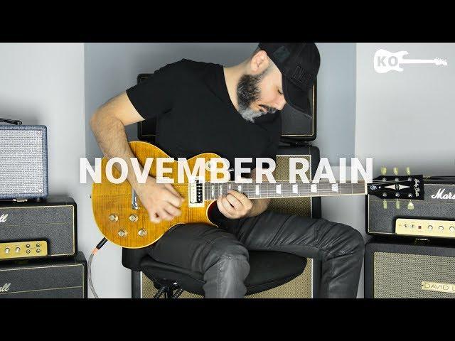 Guns N Roses - November Rain - Electric Guitar Cover by Kfir Ochaion