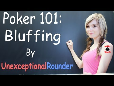 How to Bluff in Poker – Texas Holdem Poker Strategy – Bluffing Lesson