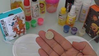 Yazı Tura Slime Challenge - Minyatür Slime Malzemeleri ile Fail Slime new videos Bidünya Oyuncak