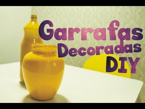 DIY: Como fazer uma garrafa decorada (jarro decorativo)