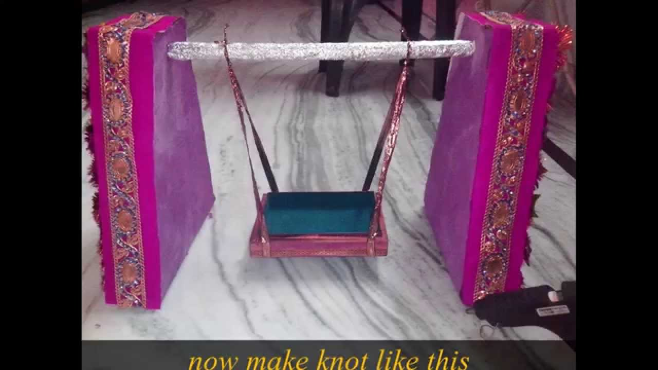 Ganpati Decoration Ideas For Home : How to make a krishna janmashtami handmade jhula in just