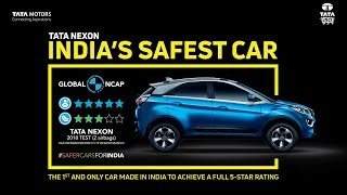 TATA NEXON  CRASH TEST   Scored 4 Stars in  GLOBAL NCAP Crash test | Tata 's Safest Compact SUV