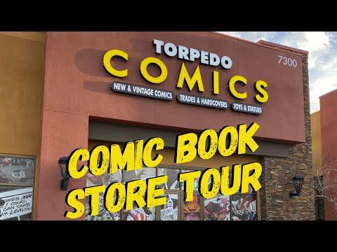 Torpedo Comics Las Vegas Store Tour 2021 comic book store comics